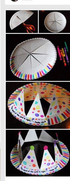 Corona divertida para niños