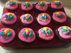 Pinky pie / my little pony birthday party cupcakes by @supergrl2137