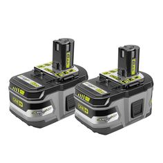 RYOBI introduces the ONE+ Lithium-Ion Ah Compact Battery with Charger Kit. These batteries feature lithium-ion cells, providing the user with over more runtime compared to the Ryobi Power Tools, Ryobi Tools, Ryobi Battery, Battery Drill, Battery Logo, Power Tool Batteries, Cordless Tools, Power Tool Accessories, Electronic Recycling