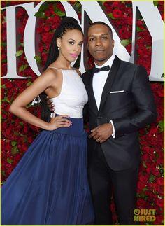 Hamilton Tony Awards, Black Celebrity Couples, Leslie Odom, Hamilton Broadway, And Peggy, Its A Mans World, Lin Manuel Miranda, Beautiful Men, Red Carpet