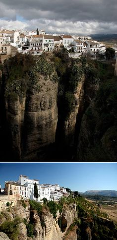 Now that is a clifftop town. (Ronda, Spain)