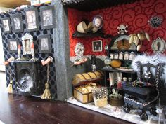 Miniature Halloween book box.