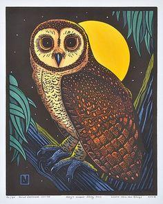 'Kay's Lesser Sooty Owl' by Leslie van der Sluys (2004)