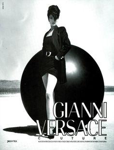 Tatjana Patitz by Herb Ritts - Versace F/W 1990 Tatjana Patitz, Gianni Versace, Movie Posters, Movies, Runway Fashion, Herb Ritts, Fictional Characters, Fashion Show, Films