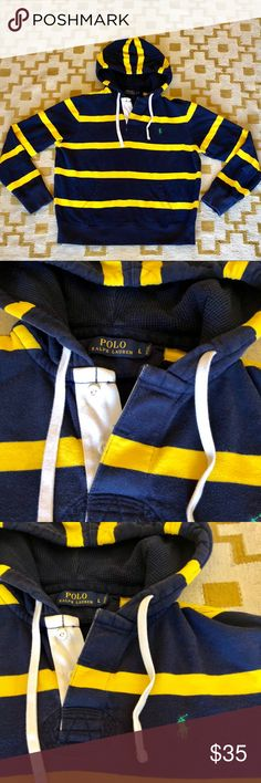 {Men's} POLO Ralph Lauren striped hoodie {Men's} POLO Ralph Lauren striped hoodie.    ***If you have ANY questions at all - about measurements, fabrication, item condition, etc. - PLEASE ASK 👍 It's important to me, that you, as the customer, are 100% clear about the product you are purchasing. Happy to answer ANY questions big or small! Polo by Ralph Lauren Shirts Sweatshirts & Hoodies