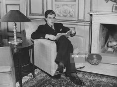 Prince Carl Johan of Sweden (Count Carl Johan Bernadotte of Wisborg) (1916 - 2012) studies in his sitting-room at the Royal Palace, Stockholm, circa 1938.