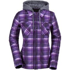 Volcom Circle Flannel Jacket ($110) ❤ liked on Polyvore featuring activewear, activewear jackets and volcom