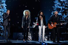 "Little Big Town's Jimi Westbrook, Kimberly Schlapman, Karen Fairchild and Phillip Sweet sing ""Have Yourself a Merry Little Christmas"" at the 2011 ""CMA Country Christmas"" (ABC, 12/1/11)."