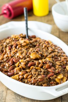 Your BBQ would not be complete without this Baked Three Bean Casserole!