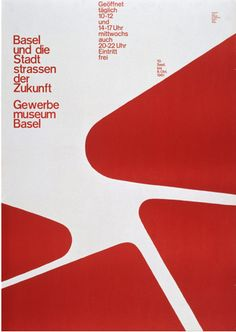 poster for Gewerbemuseum Basel by Armin Hoffmann