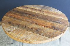 36 Round Antique Barnwood Coffee Table with by MtHoodWoodWorks, $349.00