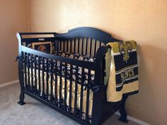 new orleans saints crib bedding set | home decor | pinterest