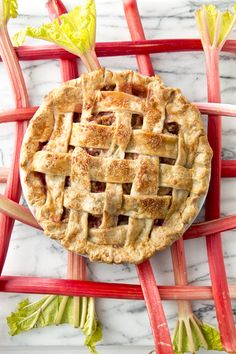 Ginger Rhubarb Pie (