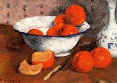 """oilpaintinggallery: """"Still Life with Oranges by Paul Gauguin, Oil painting reproductions """" Paul Gauguin, Painting Still Life, Still Life Art, Tahiti, What Colors Make Orange, Rennes France, Paul Cézanne, Impressionist Artists, Nature Artwork"""