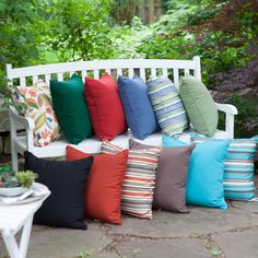 Have to have it. Coral Coast 20 x 20 Outdoor Toss Pillows - Set of 2 - $39.99 @hayneedle.com