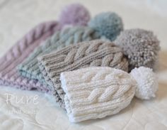 Aran Knitting Patterns, Free Knitting, Crochet Patterns, Simple Knitting, Baby Hat Knitting Pattern, Christmas Knitting Patterns, Baby Patterns, Print Patterns, Cable Knit Hat