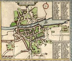 The Evolution of Dublin City Dublin Map, Dublin City, Old Maps, Antique Maps, Croke Park, City Library, Historical Maps, Capital City, Old Pictures