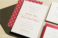 Sweet Lines Wedding Invitation Sample Set by BelieveNotes on Etsy, $6.00