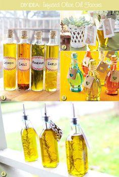 Olive oil favor bottles as diy favor ideas, #uniqueweddingideas #weddingfavors #diyweddingfavors
