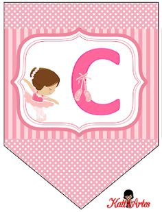 Ballerina Birthday Parties, Ballerina Party, Girl Birthday, Baby Showers Niño, Alphabet Crafts, Alphabet And Numbers, Baby Scrapbook, Diy Gifts, Banners
