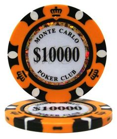 $10,000 Monte Carlo Poker Chips