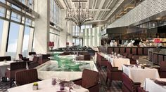 The Ritz Carlton Hotel Tosca restaurant - West Kowloon