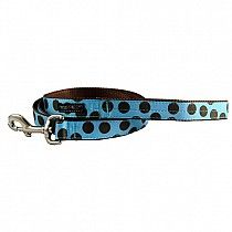 Brown Dots on Blue Dog Leash