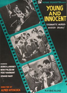 """Young and Innocent (1937) R60s Vintage Indian Movie Poster - 30""""x 40"""""""