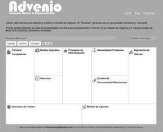 Aplicación para diseñar y validar tu modelo de negocio. Está basado en el businessmodelgeneration.com de Alex Osterwalder.