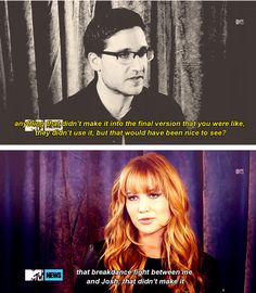 Interviewer: Anything that didnt make it into the final version that you were like, they didnt use it, but that would have been nice to see? Jennifer: That breakdance fight between me and Josh; that didnt make it. Hunger Games Memes, Hunger Games Cast, Hunger Games Catching Fire, Hunger Games Trilogy, Josh And Jennifer, Jennifer Laurence, Jennifer Lawrence Funny, Star Wars, Mockingjay