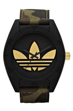 adidas Originals 'Santiago XL' Camo Strap Watch for $125 / Wantering