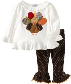 First Thanksgiving - Amazon.com: Mud Pie Baby-Girls Infant Turkey Tunic And Leggings, Multi, 0-6 Months: Clothing