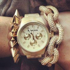 #bracelet#spike#watch#chain