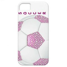 Case-Mate Barely There iPhone 5/5S Cases - White Pearls on Pink Soccer Ball