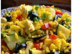 Salade de riz à l'indienne