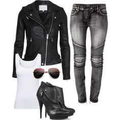 """Sexy Biker Chick"" by amanda-mabes on Polyvore"