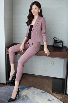 work outfit office - Outfits for Work Trajes Business Casual, Business Casual Outfits, Professional Outfits, Office Outfits Women, Stylish Work Outfits, Classy Outfits, Stylish Office, Office Style, Suit Fashion
