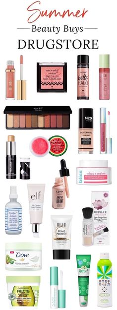 20 Affordable Beauty Buys For Summer is part of Beauty products drugstore - Makeup with SPF Beachy waves Glossy lip color Check! Here are the best drugstore beauty products for summer that will give you major bang for your buck! Cool Makeup, Makeup Tips, Beauty Makeup, Dupe Makeup, Makeup Geek, Basic Makeup, Perfect Makeup, Makeup Brands, Makeup Ideas