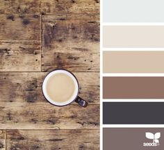 Ideas for kitchen colors schemes ideas design seeds Design Seeds, Colour Pallete, Color Combos, Paint Combinations, Kitchen Colour Schemes, Warm Kitchen Colors, Rustic Color Schemes, Rustic Color Palettes, Warm Color Schemes
