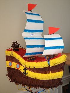 Pirate Ship Pinata  Custom Pinata by AbitaAchie on Etsy, $55.00