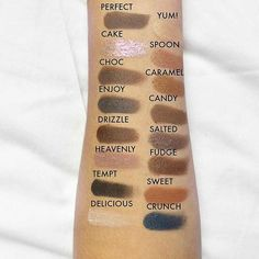 Who loves salted caramel? Revolution brings you the best salted caramel recipe. I Heart Chocolate Salted Caramel Palette. SWATCHED