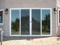 4 Panel Sliding Patio Doors French Doors Patio, Sliding Patio Doors, Sliding Glass Door, Glass Doors, Door Picture Frame, House With Balcony, Balcony Garden, Gable Window, Window Manufacturers