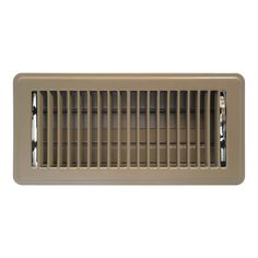 Accord Ventilation Brown Floor Register (Duct Opening: X Outside: X Floor Vent Covers, Vent Registers, Floor Heater, Lowes Home, Metal Floor, Shelf Brackets, Window Cleaner, Home Improvement