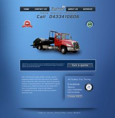 Website design for a Tow truck company