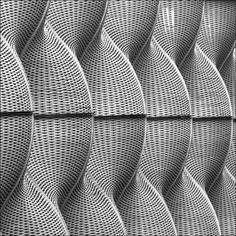 I passed this at 7.30am today on my way to a workshop - it's a metal cladding sheath around the boiler room at St Guy's Hospital, designed by Thomas Heatherwick. Heatherwick is also the architect responsible for my favourite vent in the world :-)   square shots of the Square Mile : ministract Weaving Patterns, Wall Patterns, Shape Patterns, Textures Patterns, Print Patterns, Form Architecture, Architectural Pattern, Thomas Heatherwick, Metal Cladding