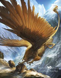 Grizzly Snacks by beastofoblivion on DeviantArt Mythical Creatures Art, Mythological Creatures, Magical Creatures, Fantasy Monster, Monster Art, Creature Concept Art, Creature Design, Fantasy Beasts, Dragon Art