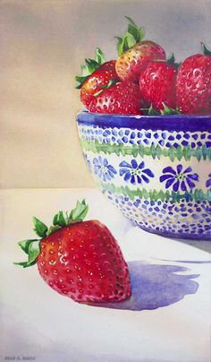 "Paintings By Kara K. Bigda: ""Polish Strawberries"""