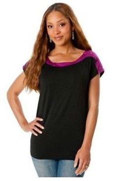 A PEA IN The POD New $65 Nursing SHIRT TOP BLOUSE PURPLE S Small Women's Breast