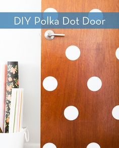 DIY Polka Dot Door by Sarah Hearts