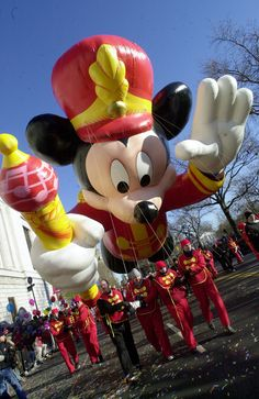 Bandleader Mickey Mouse Balloon in the 2000 Macy's Thanksgiving Day Parade (Courtesy of Getty Images)